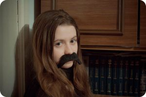 Mustache of my sister. by MyBlackPrince