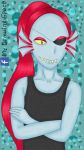 Undyne Undertale by MyDrawingSpace888