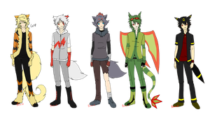 :: Gijinkas Pokemon part 1 :: by bachadark93