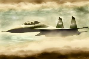 Sukhoi-30 in another dimension by Swaroop