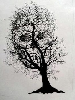 Skull tree by Vytenis62