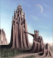 Strange cities 2 - Castle hill by Astalo