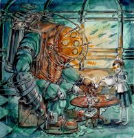 Tea with Big Daddy by Penfield06