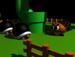 Goomba meets Buzz 3D by Kaigetsudo