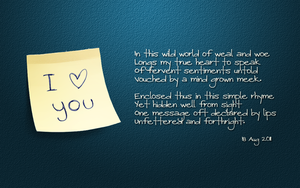 Message of Love wp by kybrdgal