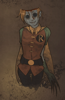 dc: robin zombie by LizCoshizzle