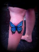 3D butterfly tattoo by CalebSlabzzzGraham
