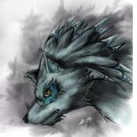 wolf eyes by elquijote