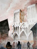 Cathedral watercolor by Samuel-de-Deviant