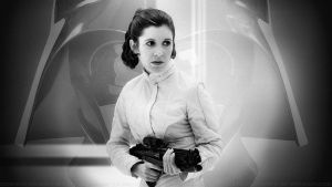 Carrie Fisher Princess Leia XLIV DV by Dave-Daring