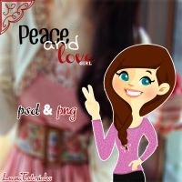 Peace and Love Girl by LuanaTutoriales by LuanaTutoriales