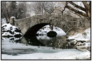 Bridge Over Icy Waters by Nefir