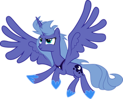 Request - Luna takes flight! by RainbowPlasma