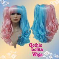 Split Pink and Blue Lolita Wig by GothicLolitaWigs