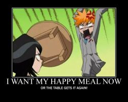 Ichigo wants his Happy Meal by Dranzer-Darling