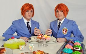 Ouran Twins Cosplay - Tea Party by Kozekito