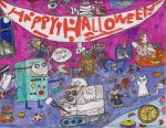 BMO and NEPTR's Spookly Awesome Halloween Party! by MaireadMalesco