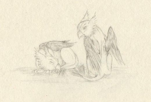 Baby Griffins by Imbecamiel