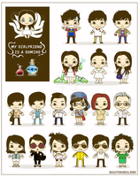 Gumiho cute characters design by SaMtRoNiKa