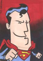 Superman Sketch Card by thecheckeredman