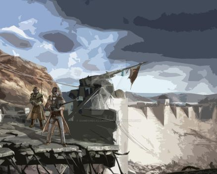 The Hover Dam  by Someonecalledmgee