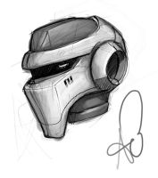 August Helmet Sketch by shinypants