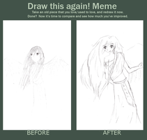 Angel girl before and after by tintedslightly