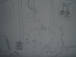 Childhood - Preview Sketch by TMNT1984