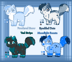 Blue Kitty Adopts! -Read Desc- CLOSED! by Spottedfire-cat