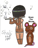 Shadi the piper and his pet by ILoveThePanda