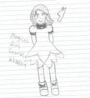 Magical Girl Chara! - Happy Birthday Kaitogirl!! by LymleTheSymbologist