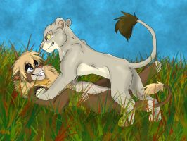 Art Trade: Asante and Marcus Play by Firewolf-Anime