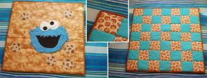 Cookie Monster Baby Blanket by WollMia
