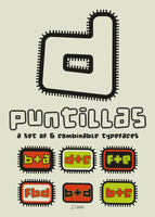 d puntillas, a set of 6 combinable fonts by defharo