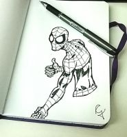 Spider-Man Sketch by Guinicius