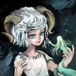 Horned Demon Child by WindHydra