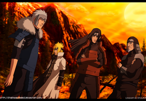 Naruto 618 Hokages return by IITheYahikoDarkII