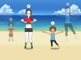 Wii Fit Trainer and Villager Body Swap Part 5 by Widowmaker-Evan