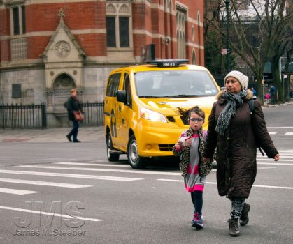 Madonna and Child Crossing Sixth by steeber