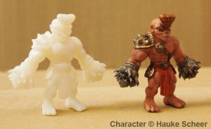 Drill Troll 3D print painted by hauke3000