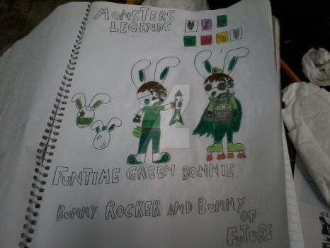 bunny rocker and bunny of future monsters legends by s1carlosreyes