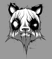 Black Metal Panda by ShawnCoss