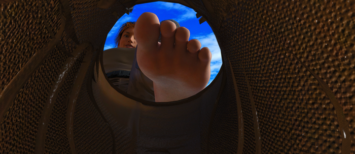 In Her Boot by 3D-Giantess-Studios
