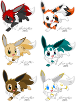 Adopt an Eevee 2 GONE by KasaraWolf