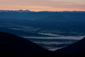 Grey River Valley - Dawn by Mikelyjohnsono