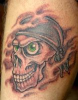 Skull with bandana Tattoo by Mr-Taboo