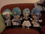my Grimmy plushies by feerl
