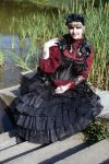 Black Red Gothic Stock by Sayashi-Stock