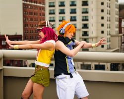 TWEWY - Back to back by Hazuza