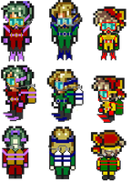 FF VI Girls Scuba Sprites by Flood7585